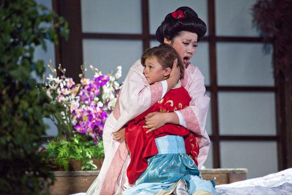Grazia Lee e il piccolo Pietro