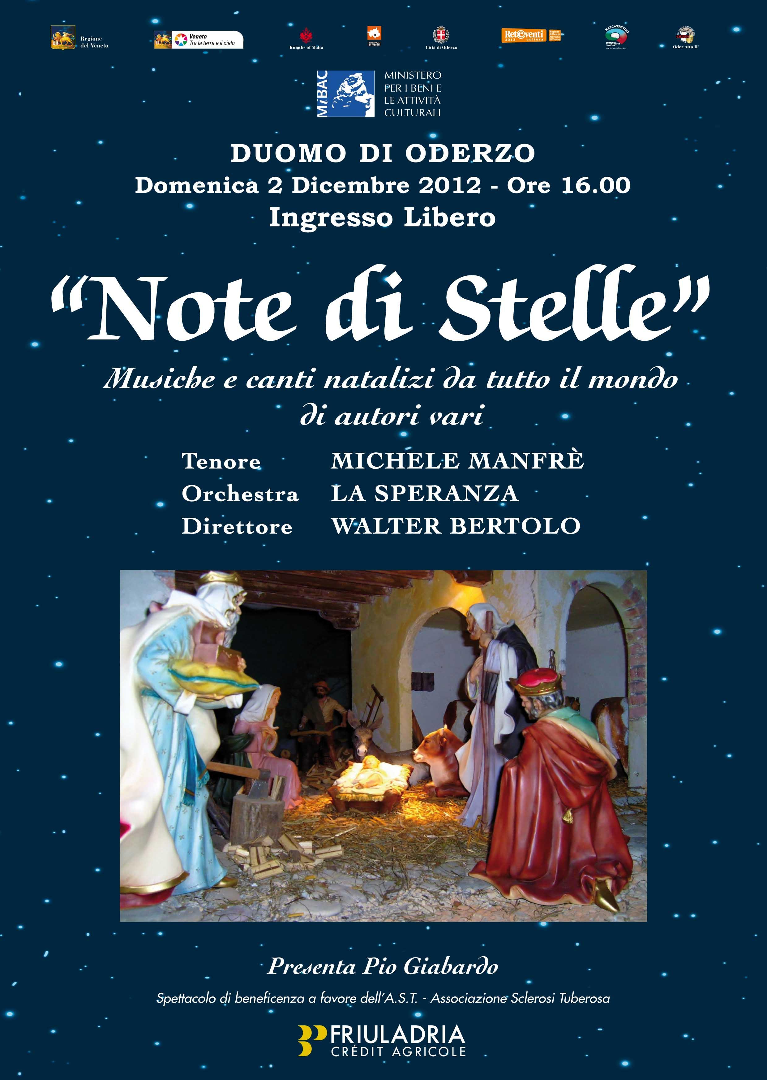 NOTE DI STELLE 2012 CON  VOCE DI TENORE E ORCHESTRA DI FISARMONICHE
