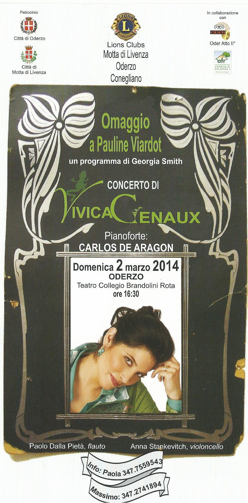 """VIVICA GENAUX nella Prima mondiale di """"OMAGGIO A PAULINE VIARDOT"""""""